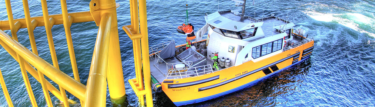 FRS Windcat Offshore Logistics Butendiek Windcat 35.